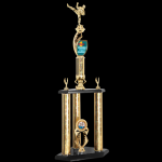 Two Tier Customized Trophy -Martial Arts Karate Trophy Awards