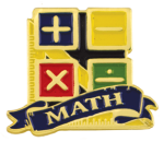 Bright Gold Educational Math Lapel Pin Lapel Pins
