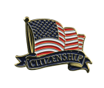 Bright Gold Educational Citizenship Lapel Pin Lapel Pins