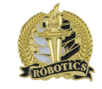 Bright Gold Academic Robotics Lapel Pin Lapel Pins