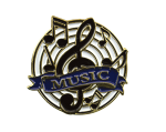 Bright Gold Educational Music Lapel Pin Music Trophy Awards