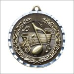 Diamond Cut Medal - Music Music Trophy Awards