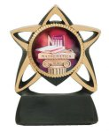 Star Resin Mylar Holder Music Trophy Awards