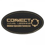 Leatherette Name Badge With Magnet Black/Gold Name Badges | Plates