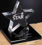 Tapered Star on Base Patriotic Awards