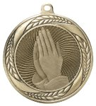 Laurel Medal - Praying Hands Religious Awards