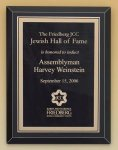 Black Glass Plaque with Brass Plate Religious Awards