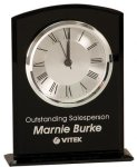 Black Glass Arch Clock with Base Sales Awards