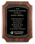 American Genuine Walnut Plaque with Satin Finish Sales Awards