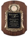 Genuine Walnut Plaque with Metal Casting Sales Awards