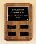 Solid American Walnut Quarterly Award Plaque Sales Awards