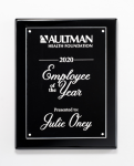 Clear Acrylic Plate on Black High Gloss Plaque Sales Awards