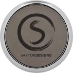 Leatherette Round Coaster with Silver Edge -Gray  Sales Awards