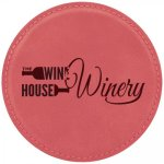 Leatherette Round Coaster -Pink Sales Awards