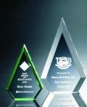 Beveled Peaks Acrylic Award Sales Awards