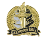 Bright Gold Academic A-B Honor Roll Lapel Pin Scholastic Trophy Awards
