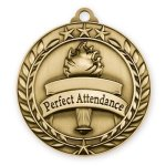 Wreath Medal -Perfect Attendance  Scholastic Trophy Awards