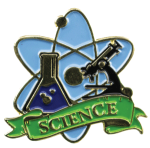 Bright Gold Educational Science Lapel Pin Scholastic Trophy Awards
