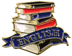 Bright Gold Educational English Lapel Pin Scholastic Trophy Awards