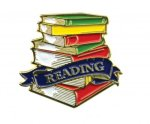 Bright Gold Educational Reading Lapel Pin Scholastic Trophy Awards