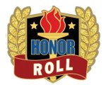 Honor Roll Pin Scholastic Trophy Awards