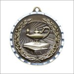 Diamond Cut Medal - Lamp of Knowledge Scholastic Trophy Awards