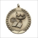 Die Cast Medal - Lamp of Knowledge Scholastic Trophy Awards