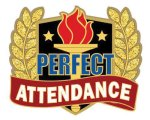 Perfect Attendance Pin Scholastic Trophy Awards