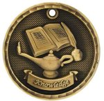 3-D Medal -Lamp of Knowledge Scholastic Trophy Awards