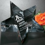 Slanted Star Paper Weight Secretary Gift Awards