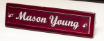 Rosewood Piano Finish Nameplate with Acrylic Engraving Plate Secretary Gift Awards