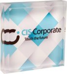 Full Color Acrylic Square Paperweight Secretary Gift Awards