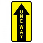 Pre-Made One Way Floor Graphic Signs | Banners
