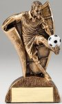 USA Flag Series Resin Trophy -Soccer Male  Soccer Trophy Awards
