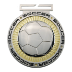 Dual Plated Medallion -Soccer Soccer Trophy Awards