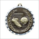 Diamond Cut Medal - Soccer Soccer Trophy Awards