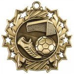 Ten Star Medal -Soccer  Soccer Trophy Awards