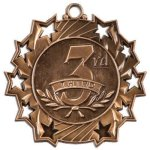 Ten Star Medal -3rd Place  Soccer Trophy Awards