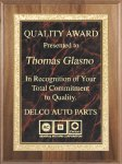 Genuine Walnut Plaque Square Rectangle Awards