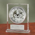 Crystal Clock with Exposed Gears Square Rectangle Awards