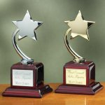 Shooting Star on Piano Finish Base Star Awards
