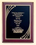 Rosewood Piano Finish Plaque with Brass Plate Star Awards