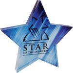 Full Color Star Acrylic Paperweight Star Awards