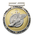Dual Plated Medallion -Track Track Trophy Awards
