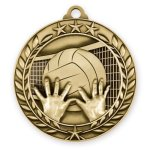 Wreath Award Medallion -Volleyball Volleyball Trophy Awards