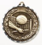 Diamond Cut Medal - Volleyball Volleyball Trophy Awards